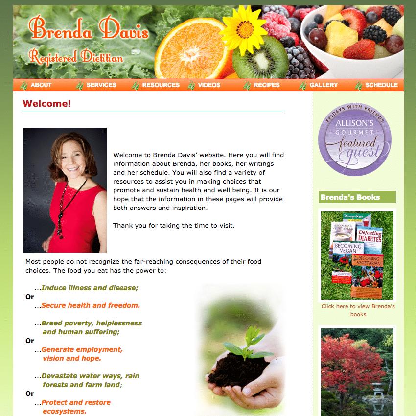 Brenda Davis' Website