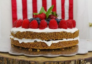 4th of july cake side