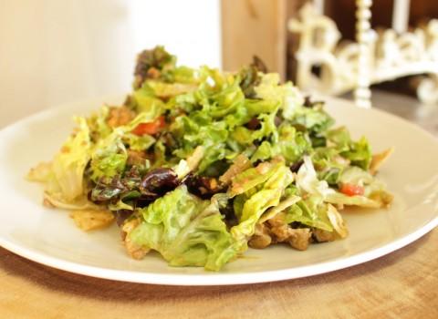 taco salad served