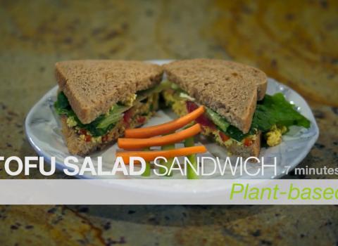 vegan egg salad tofu