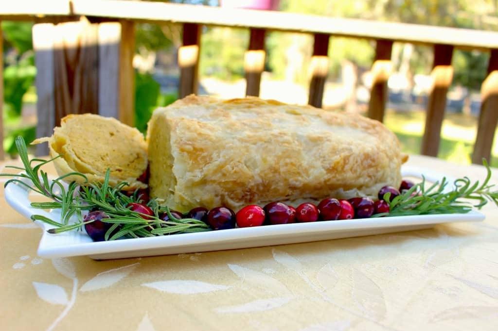 vegan turkey roast slice