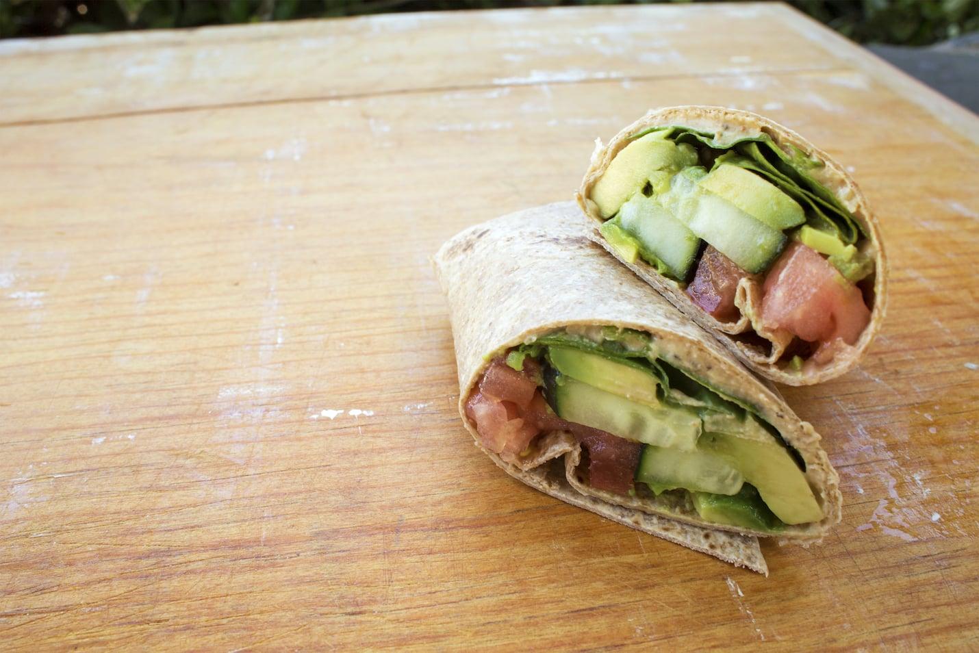 abbouleh Hummus Wrap