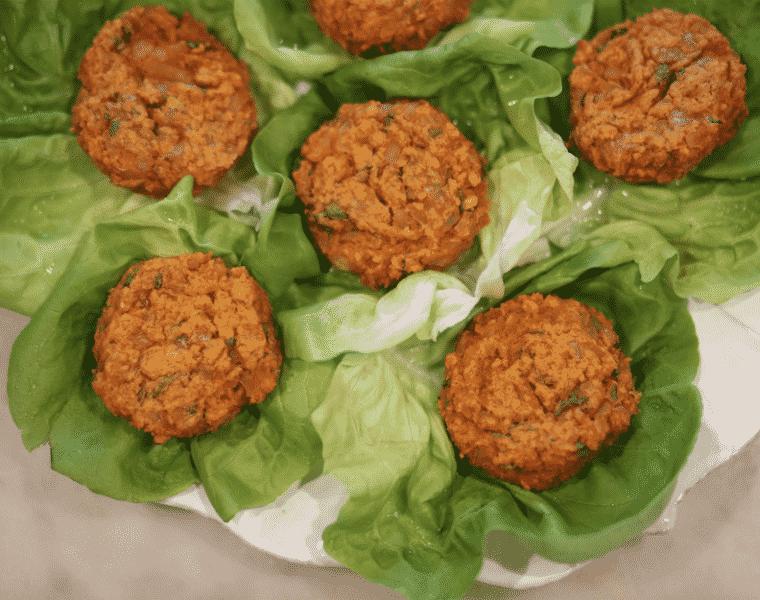 Sweet Potato Cake Lettuce Wraps