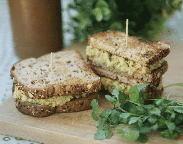 Avocado Chickpea Salad Sandwich