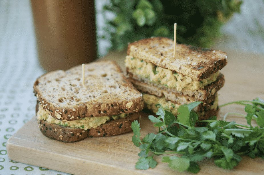 Avocado Chickpea Salad Sandwich