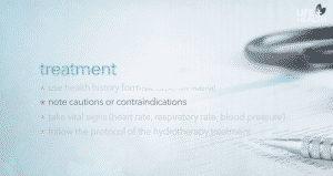 hydrotherapy cautions